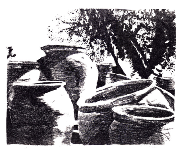 tubac morning - lithograph